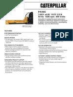 Specsheet 3516 1825 kVA Prime