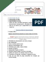 ROTEIRO E APOSTILA DE MATERIAL DADO AOS PAIS NO 1º ENCONTRO