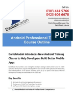 Android Training Course Outline