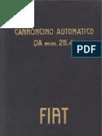 Cannoncino Automatico Fiat 25,4mm 1916
