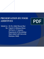 Preservation by Food Additives