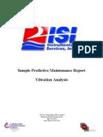 Sample Vibration Analysis Report