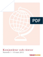 SBAB Bank Konjunktur och räntor 1-2012