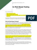 Risk Based Testing1