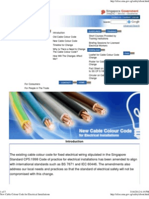 New Cable Colour Code for Electrical Installations ... on painting colours, blue colours, lens colours, carpet colours,