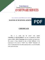 Training Development Mba Hr Marketing Project1