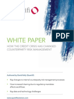 Quantifi Whitepaper_How the Credit Crisis Has Changed Counter Party Risk Management