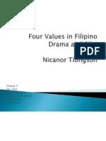 Four Values in Filipino Drama and Film