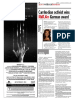 TheSun 2008-11-26 Page10 Cambodian Activirs Wins RM4.6m German Award