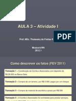 AULA 3 - Atividade I