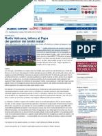 2010 - luglio 14 - La Repubblica - Radio Vaticana, lettera al Papa dei genitori dei bimbi malati