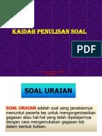 Kaidah Penulisan Soal (PS)