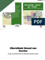Cartilha Diversidade Sexual Escolas