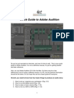 Quick Guide to Adobe Audition
