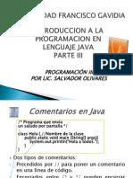 Presentacion Java Semana 3