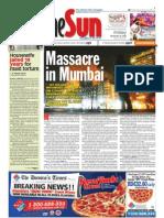 TheSun 2008-11-28 Page01 Massacre in Mumbai