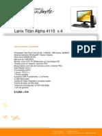 Catálogo Titan Alpha 4110 Dual Core E2140(07-Febrero-2012)