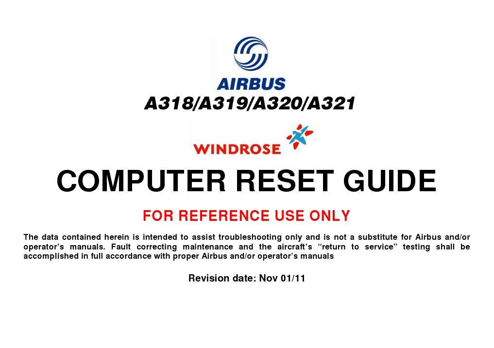 a320 computer reset nov11 rh scribd com airbus a320 reset guide airbus a320 reset guide