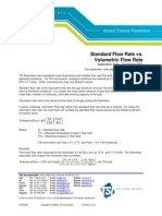 Standard vs Volumetric Flow Rate