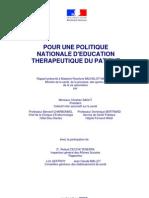 Rapport Eudcation Thérapeutique du Patient