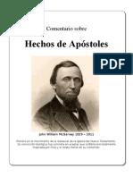 COMENTARIO AL LIBRO DE HECHOS DE W. McGarvey, Traducido[1]