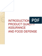 Quality and Food Defense Training