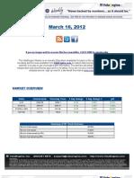 ValuEngine Weekly Newsletter March 16, 2012