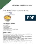 Guiso Patatas y Ensalada Calabaza