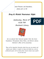 Drug and Alcohol Night