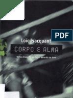 Loïc Wacquant Corpo e alma_Notas etnográficas de um aprendiz de boxe