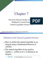 MathII Ch07 3 Natural Logarithms