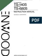 Kenwood TS-140S Instruction Manual