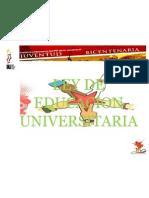 Ley de Educacion Universitaria