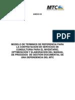 Modelo Tdr Procesos - Etapa i - f2
