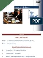 ELABORAÇÃO DAS DEMONSTRAÇÕES CONTÁBEIS EM 2011 - APRESENTAÇÃO - DESS IBECC
