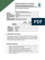 Syllabus-Analisis y Diseño de Sistem.