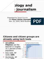 Technology and citizen journalism