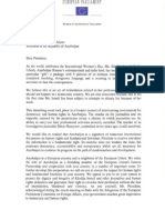 European Parliament Letter to the President of Azerbaijan