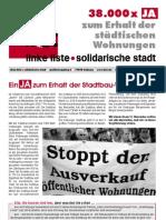 Ein JA zum Erhalt der Stadtbau-Wohnungen (10/2006)