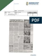 Informe de prensa del 9 al 16 de marzo de 2012
