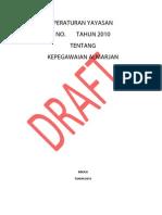 Draft Peraturan Kepegawaian