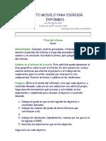 Formato Modelo Para Escribir Informes