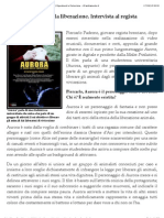 Inter Vista a Piercarlo Paderno Regista Del Film 'Aurora' | Esperimenti e Vivisezione - IlCambiamento