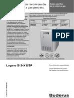 Modelo G124 - Instrucciones Para Re Conversion de Gas Natural a Gas Propano