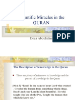 Scientific miracles in the Holy  Quran - By Doaa Abdu-Rahman
