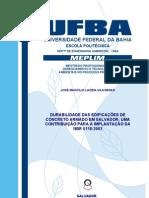 Durabilidade das Edificações de Concreto Armado - Dissertação