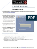 Using Outlook Web Access