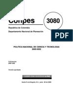 Política Nacional de Ciencia y Tecnología 00-02