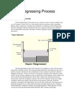 Vapor Degreasing Process