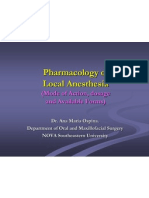 2010 Anesthesia Lectue - Pharmacology of Local Anesthetics